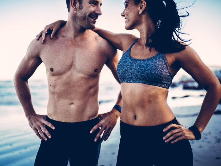 fit Couple standing together